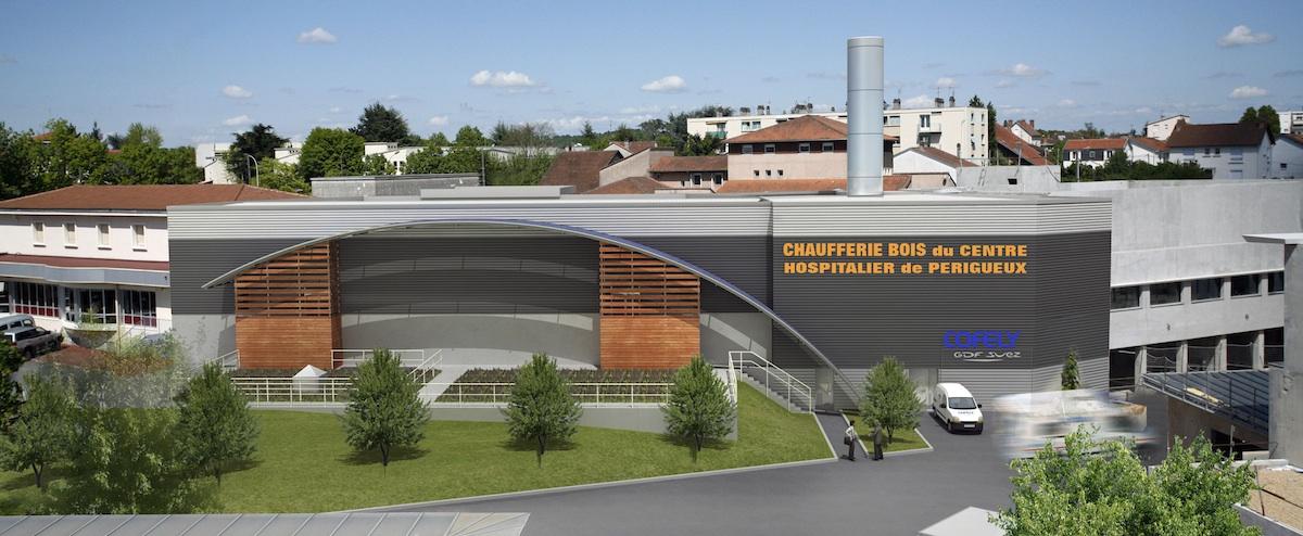 centrale biomasse du centre hospitalier de p rigueux architecture hospitali re. Black Bedroom Furniture Sets. Home Design Ideas