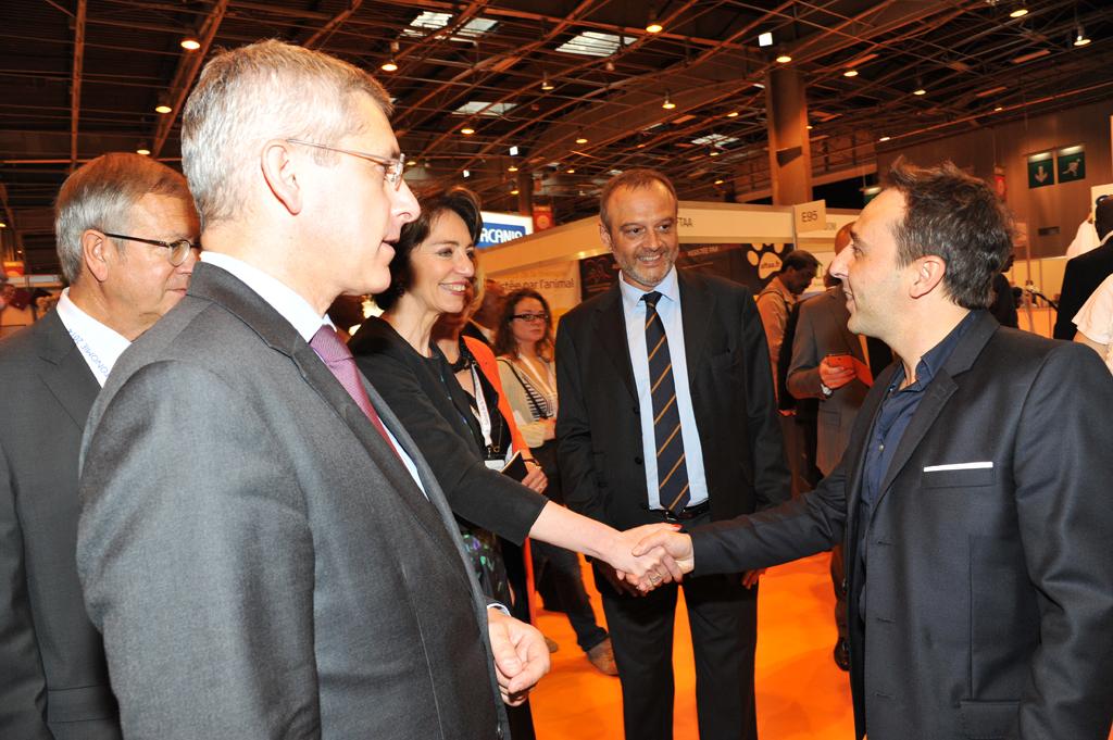 Frédéric Valletoux et Marisol Touraine rencontrant David Entibi